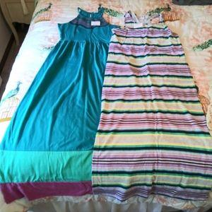 2 girls sz 14 maxi dresses